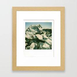 Metal Mountain Framed Art Print
