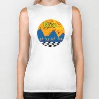 rio Biker Tanks featuring Rio 1 by Monica Fuchshuber