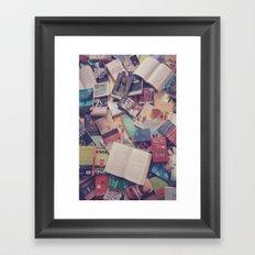Book mania! (2) Framed Art Print