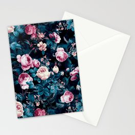 Roses Blue Stationery Cards