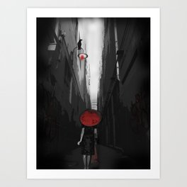 Red N Lost.... Art Print