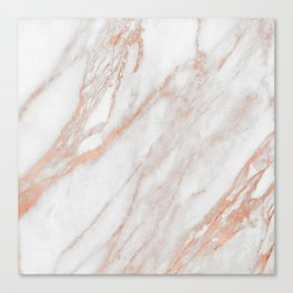 Marble Rose Gold - Am I Wrong Canvas Print