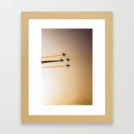 Turkish acrobatic aviation squadron flying over Izmir (Turkey) Framed Art Print
