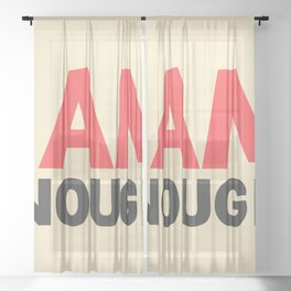 I am enough!, broken hearts, inspirational quote, free woman, motivational quote, strong woman Sheer Curtain