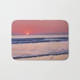 Barrosa Beach Waves At Sunset. Cadiz Bath Mat