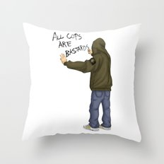 All Cops Are Bastard !!! Throw Pillow