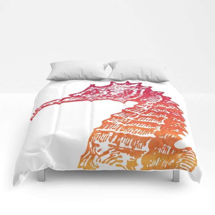 Red & Orange Seahorse Comforters