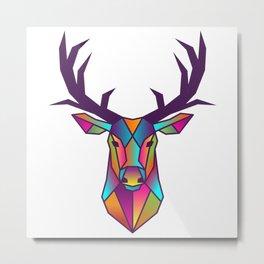 Deer | Geometric Colorful Low Poly Animal Set Metal Print
