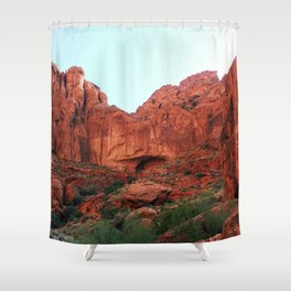 Red rocks Shower Curtain