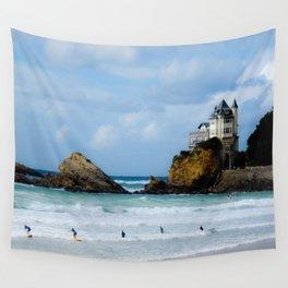 Biarritz Surfers Wall Tapestry