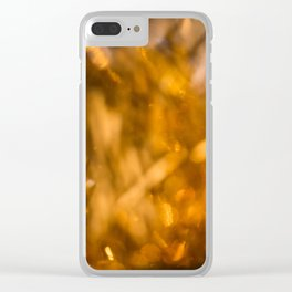 Golden Cheer I Clear iPhone Case