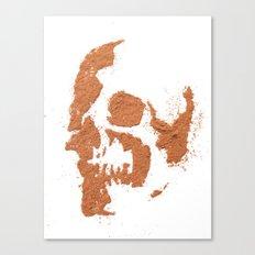 149. Cocoa Stencil Skull Canvas Print