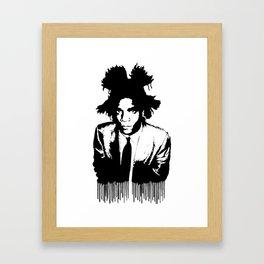 BASQUIAT DRIP Framed Art Print