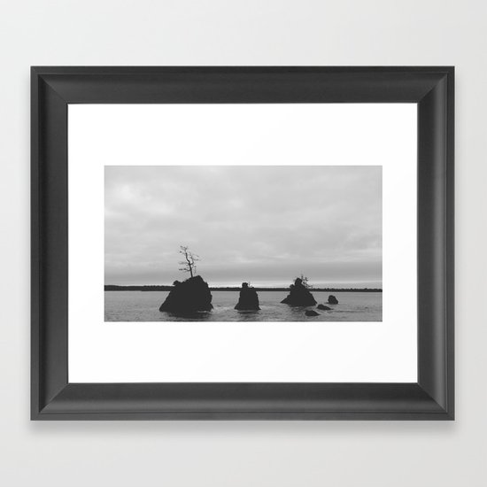 Land Meets Sea Framed Art Print