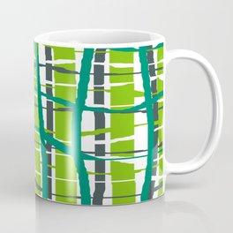 Wiggle Plaid Green Coffee Mug