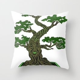 Mr. Bonsai Throw Pillow