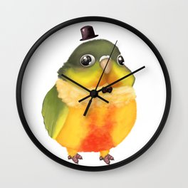 Fanciful Conure with Hat Wall Clock