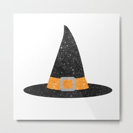 Glitter Witch Hat Metal Print