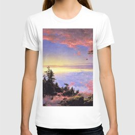 New England - Above the Clouds at Sunrise by Frederic Irwin Church T-shirt