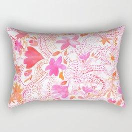 Pink Flourish Rectangular Pillow