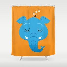Sleepy Elephant Shower Curtain