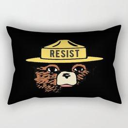Smokey says, If not you, who? (Resist version) Rectangular Pillow