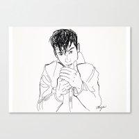 alex turner Canvas Prints featuring Alex Turner. by AmyLianneMuir