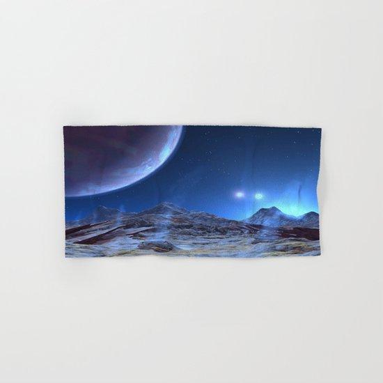 Extraterrestrial Landscape : Galaxy Planet Blue Hand & Bath Towel