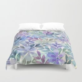 watercolor Botanical garden Duvet Cover