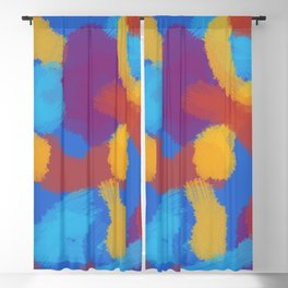 90s Retro Color Abstract Art Blackout Curtain
