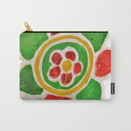 Indian Street Flower Carry-All Pouch