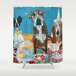 The Last Dessert Dog Portrait Shower Curtain