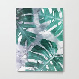 Monstera Theme 1 Metal Print