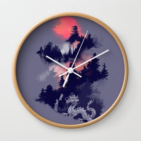 Samurai's life Wall Clock