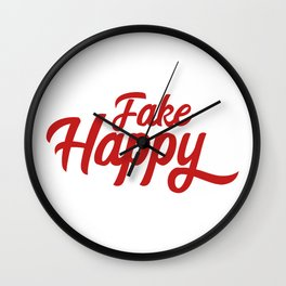 fake happy Wall Clock