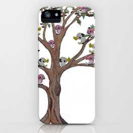 Cockatoos sitting in a Gum Tree iPhone Case