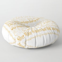 A Few of My Favorite Things - Gold Floor Pillow