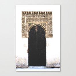Rustic Alhambra Arch Door Canvas Print