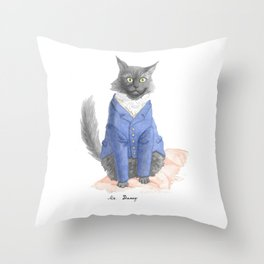 Mr. Darcy As Mr. Darcy Throw Pillow
