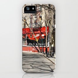 Greenwich Village street in winter iPhone Case