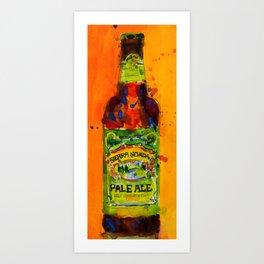 Sierra Nevada Pale Ale Beer Art Print from original Watercolor - Man Cave - College Dorm -Bar Art Art Print