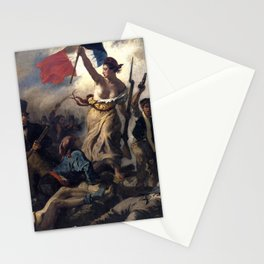 Liberty Leading the People by Eugène Delacroix (1830) Stationery Cards