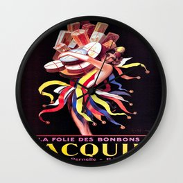 Vintage poster - Jacquin Wall Clock
