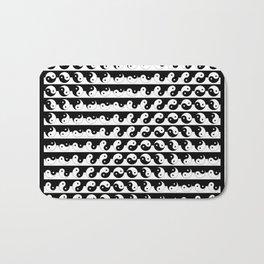 Yin Yang Art Pattern Black & White #society6 #decor #design #lifestyle Bath Mat
