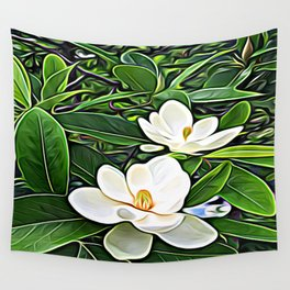 White Flowers of the Purest Essence Wall Tapestry