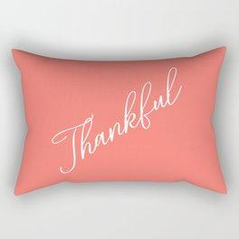 Thankful Living Coral Rectangular Pillow