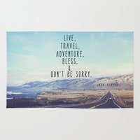 kerouac Area & Throw Rugs featuring Kerouac - Travel Edition by Altgasse Designs