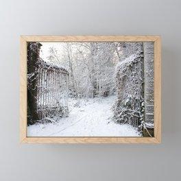 Gate to Winterland Framed Mini Art Print