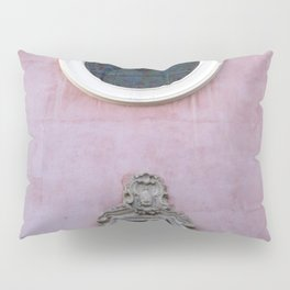 Pink Spanish Facade Pillow Sham
