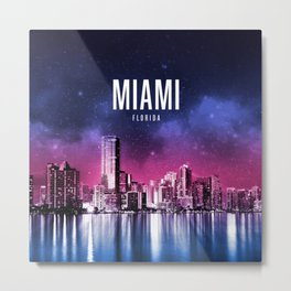 Miami Wallpaper Metal Print
